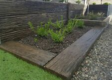 concrete sleepers for all retianing wall and garden beds and paving