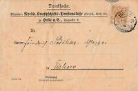 Postkarte verschickt von Halle/Saale nach Eichow aus dem Jahr 1899 interessant