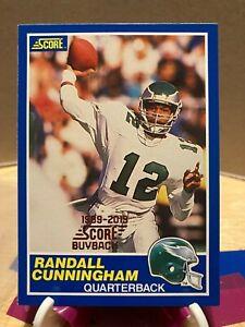2019 Score - Randall Cunningham - 1989-2019 Buy Back Foil Stamped Insert RARE
