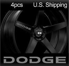 4 DODGE Stickers Decals Wheels Rims Door Handle Mirror Challenger Charger SILVER