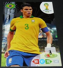 THIAGO SILVA BRESIL FOOTBALL CARD PANINI FIFA WORLD CUP BRASIL 2014