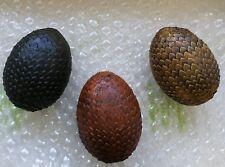 3 Huevos de Dragón de la saga Juego de tronos Pintados. Dragón Eggs pro painted