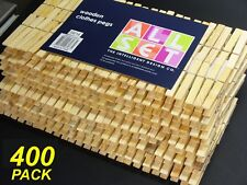 400 Pack x Wooden Clothes Pegs - 7cm Normal Size - Timber Wood
