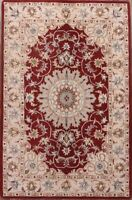 Traditional Floral Red Oushak Oriental Area Rug Hand-tufted Living Room Wool 5x8
