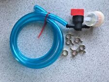 Riding Mower Blue Translucent Fuel Line Kit Filter With Magnet, Shut Off, Clamp