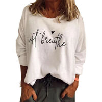 Women Blouse Shirt Pullover Ladies Loose Long Sleeve T-shirt Pullover Tops