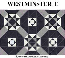 DOLLS HOUSE MINIATURES,DOLLS HOUSE TILES &.FLOORING.WESTMINSTER (E) FLOOR TILES