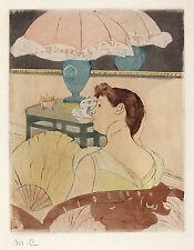 Mary Cassatt Reproductions: The Lamp - Fine Art Print