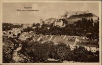 Bautzen Sachsen alte Postkarte 1922 Blick vom Proitschenberg auf die Ortenburg