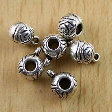 20pcs Tibetan silver lacy tube bail charm h0332