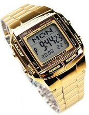 Casio DB-360G-9D Databank Retro Digital Gold Plated Unisex Watch DB360 DB360G
