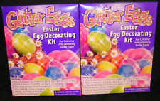 TWO (2): GLITTER EGGS; EASTER DYE COLOR DECORATING KITS