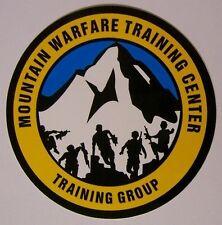 Window Bumper Sticker Military Marine Mountain Warfare Training Group NEW Decal