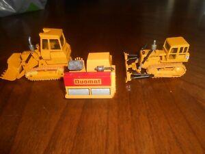 3 Die Cast Construction Vehiles-2 Caterpillar NZG/ 1 BK Duomat Roller paver