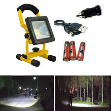 30W 24 LED Flood Light Spot Work Portable Camping Fishing Lamp USB 3* Battery