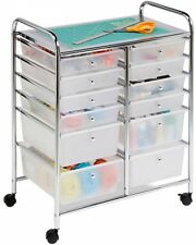 Rolling Bin 12-Drawer Cart Arts Crafts Classroom Storage Clothes Organize Office