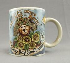 Friends of Boyds Bears Sunny Day Sunflower Bearware Pottery Works Coffee Mug Cup