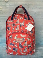 """Cath Kidston Multi Pocket Backpack Squiggle Dogs Red - GIFT -13"""" MacBook"""