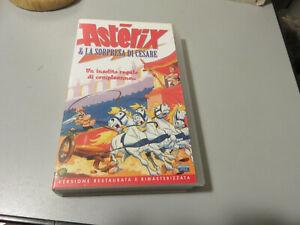 VHS Ita film ASTERIX e la sorpresa  Cesare versione restaurata e rimasterizzata