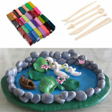 ONLY 32 Color Oven Bake Polymer Clay Block Modelling Moulding Sculpey Toys YA9