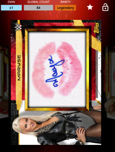 Topps Slam WWE Kiss card Gold Signature Relic Maryse Legendary - Digital