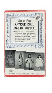 Antique Doll Jigsaw Puzzles Made in Japan  Vintage Shackman Set of Four
