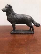 More details for vintage collie dog resin ornament figure ornament with bronze effect