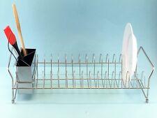 NEW Stainless Steel Dish Rack Cutlery Drainer Set Utensil Dryer Holder RRP $49