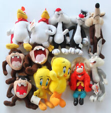 Looney Tunes Plush Lot Foghorn Leghorn Sylvester Cat Taz Tweety Wile E Sam Bugs