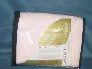 Vintage Chatham WonderLite All Seasons Sheet Blanket Pink Queen/King New NOS