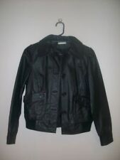 Regular Size Leather Solid Coats & Jackets for Women