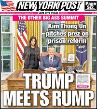 NEW YORK POST NEWSPAPER MAY 31 2018 KIM KARDASHIAN DONALD TRUMP BIG ASS SUMMIT