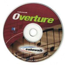 Overture - Cakewalk Software Disc - Mac OS - 1998 Twelve Tone Systems, Inc.