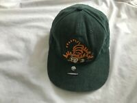 DISNEY STORE TIGGER TIGER  ADUL CAP leather strap-back GREEN made in USA golf