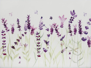 Country Life Lavender Painting Canvas Print Wall Art - Various Size Options