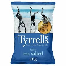 Tyrell's Lightly Sea Salted Crisps - Box of 14x 40g Packets - NEW/SEALED SNACKS