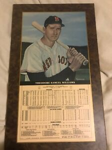 TED WILLIAMS Mirro Art Career Stat Plaque #14 Of 1000 Autographed 1981