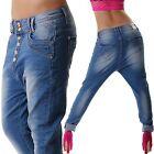 jeans taille basse pour femme sarouel pantalon BAGGY BLEU NEUF