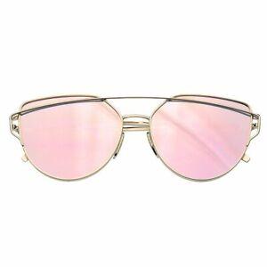 SUNGLASSES Mens Womens Retro Vintage Mirrored Flat Lens Sunglasses