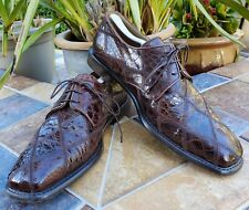 Vintage MARIO CORTI Men's Alligator Shoes-Made in Italy- Great Condition - US 11