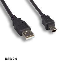 Kntk 10ft Usb 2.0 A to Mini B 5 Pin Cable Digital Camera Phone Pda Mp3 Ps3 Black