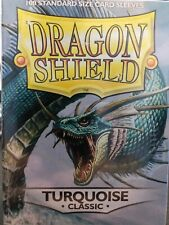 Turquoise Classic - 100 ct - Dragon Shield Sleeves Standard Size FREE SHIPPING!
