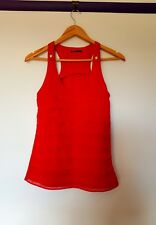 Tokito womens Size 8 Red Layered frill ruffle Flapper Look Tank Top