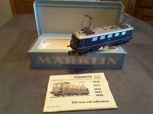 Locomotive H0 MARKLIN 3034 Motrice électrique BB serie 141  DB 4102 bleue