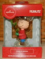 Hallmark Peanuts Charlie Brown with Tree 2019 Red Box Christmas Ornament