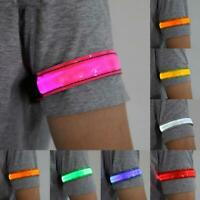 Reflective LED Light Arm Armband Straps Safety Belt For Night Running Cycling