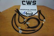 NISSAN 350Z G35 G37 ENGINE GROUND KIT 6PC BLACK JDM CUSTOM 370Z VQ35 4GA