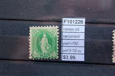 STAMPS SWITZERLAND YVERT N°82 PERF.9 1/2 USED (F101226)