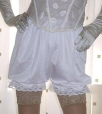 Vintage inspired cream silky nylon gusset frilly bloomer french knickers panties