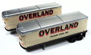 "N Scale - 40/50's - Aero Van Trailer ""Overland "" (2 PACK) - CMW-51180"